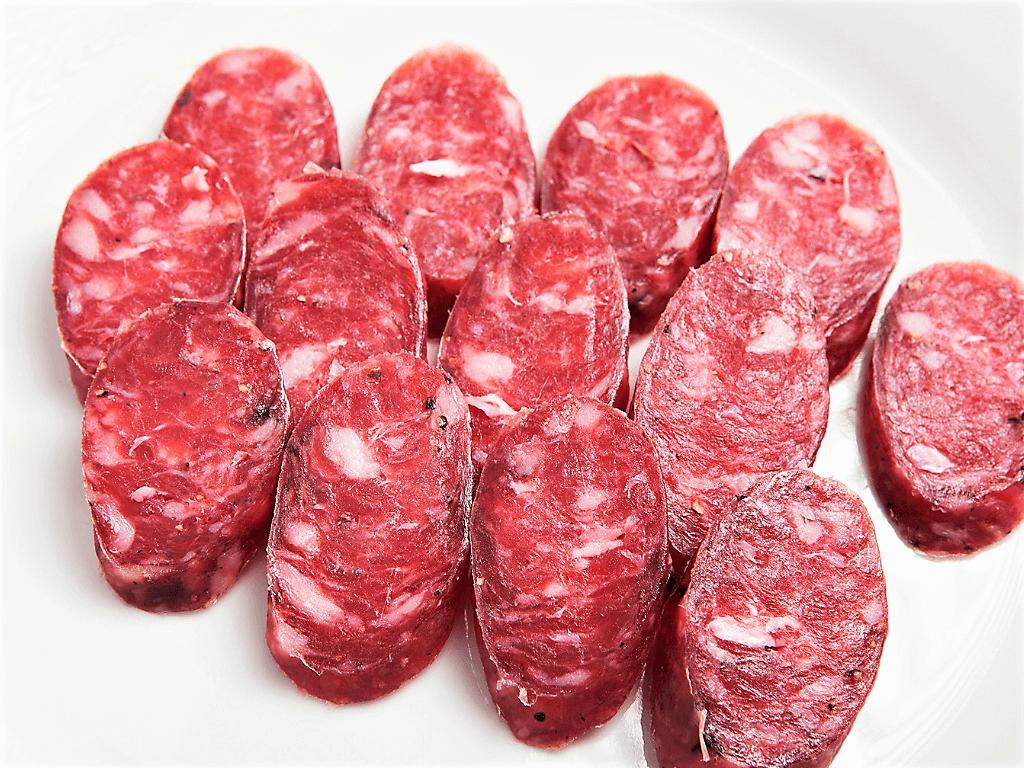 Salchichón Curado, 100 % Carne de Cerdo.